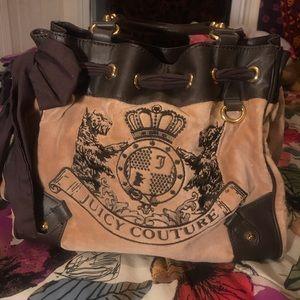 NWOT Juicy Couture brown velvet daydreamer bag